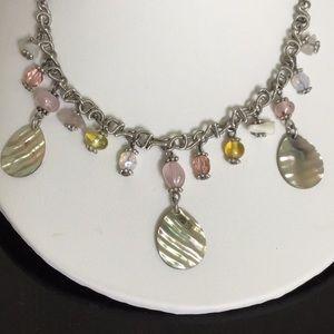 "Lia Sophia Jewelry - Vtg.LiaSophia 18""W3""Ext. Silver Beaded Necklace"